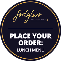 Lunch Menu at 42 The Calls Hotel, Leeds | 4-Star Luxury, Boutique Suites on the River Aire