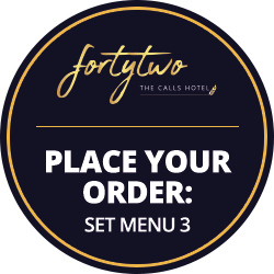 Set Menu 3 at 42 The Calls Hotel, Leeds | 4-Star Luxury, Boutique Suites on the River Aire